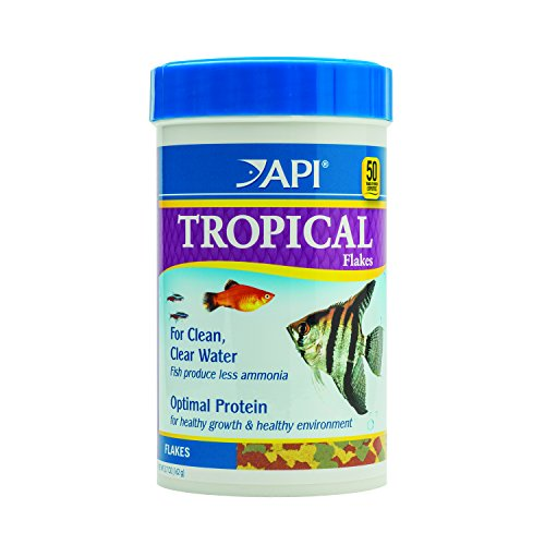 - API TROPICAL FLAKES Multi Color Fish Food For Tetra Fish, Angelfish, Barbs And Any Other Freshwater Aquarium Fish, 5.7-Ounce