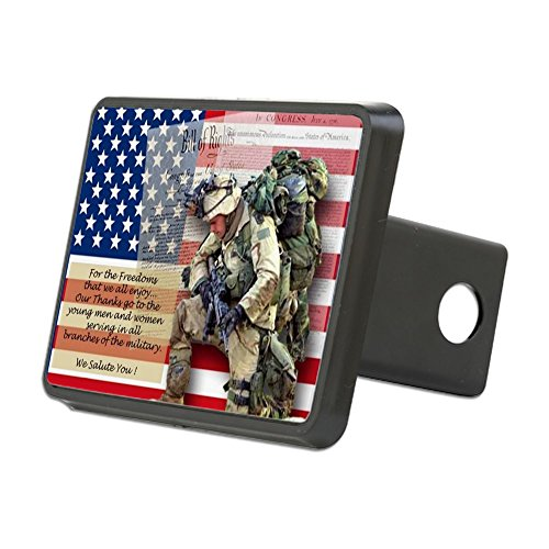 CafePress Patriotic Soldier Trailer Receiver Insert