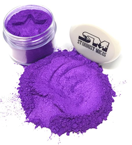 Stardust Micas Pigment Powder Cosmetic Grade Colorant for Makeup, Soap Making, Bath Bombs, DIY Crafting Projects, Bright True Colors Stable Mica Batch Consistency Violet Petal