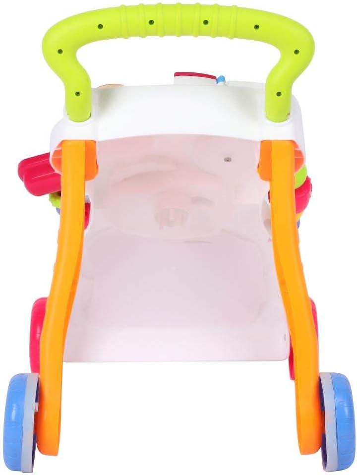 45 /× 42 /× 34 cm lyrlody Lauflernwagen Baby Lauflernhilfen Babyspielzeug P/ädagogisches Laufwagen Schiebewagen Spielwagen f/ür M/ädchen und Junge