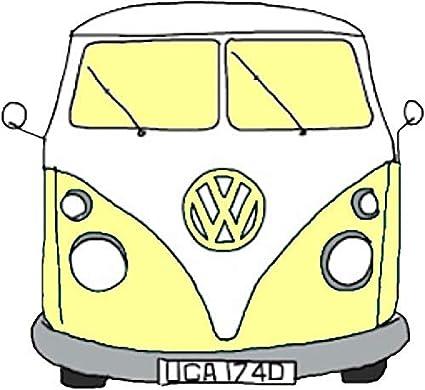 Amazon Com Vw Camper Tumblr Aesthetic Yellow Sticker Decal Window