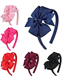 Girls Boutique Grosgrain Ribbon Headband with Bows(6...