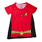 Robin Cape Shirt Robin Cosplay DC Robin Tshirt - Robin Cape Tee Robin Shirt-Large