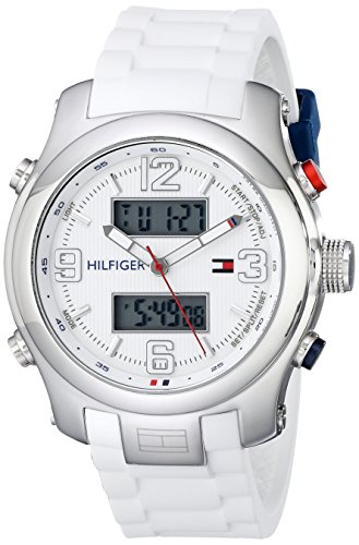 Tommy-Hilfiger-Mens-1790946-Cool-Sport-Watch-with-White-Silicone-Strap