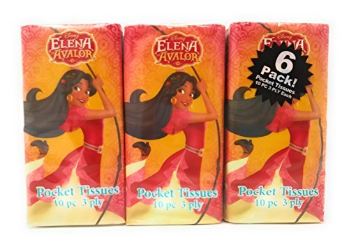 er Pre-school Elementary School Supplies Tissue 6 Pack Elena of Avalor (Tissue Bunny)