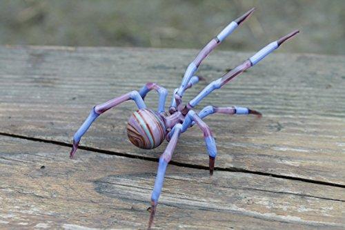 Hand-Blown Glass Spider Collectible Figurine, Glass Spider Figurine,Glass Insect, Blown Glass Spider, Spider halloween