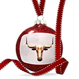 Christmas Decoration Low Poly zoo Animals Longhorn Ornament