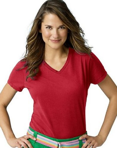 Hanes Womens Nano-T V-Neck T-Shirt (S04V)