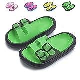 Yiomxhi Toddler Little Kids Walking Slippers Summer Sandals Shower Shoes Beach Slippers (Little Kids 10-10.5M, Green)