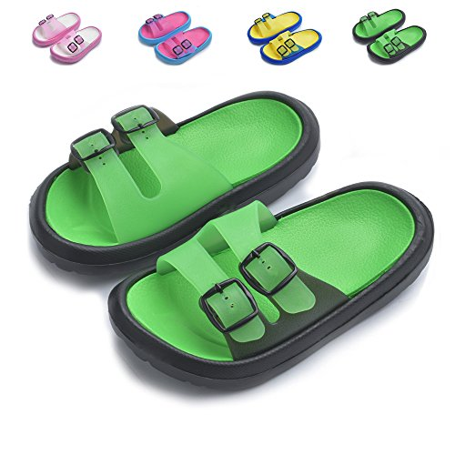 Yiomxhi Toddler Little Kids Walking Slippers Summer Sandals Shower Shoes Beach Slippers (Little Kids 10-10.5M, Green) by Yiomxhi