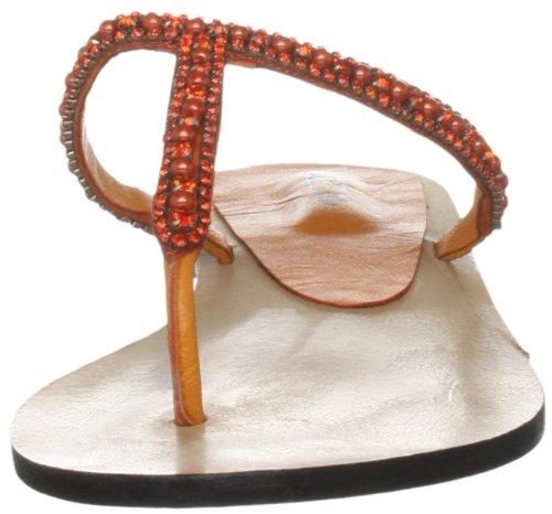 Unze Evening Slippers L18342W - Sandalias para mujer Naranja