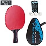 Pro Attack type Black Carbonization King Training or Competition Table Tennis Racket Ping