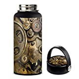 Skin Decal Vinyl Wrap for Hydro Flask 32oz Wide Mouth stickers skins cover/Steampunk Gears Steam Punk Old