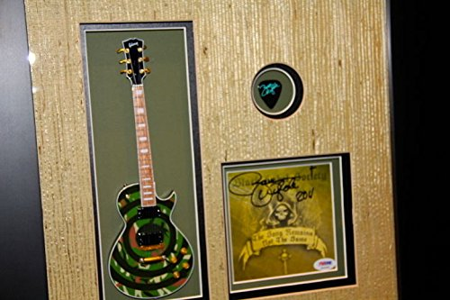 Black Label Society signed CD ZAKK WYLDE CAMO GIBSON GUITAR PSA DNA pick BLS