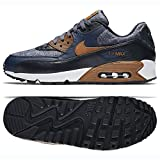 NIKE Mens Air Max 90 Premium Wool Pack Shoes Thunder Blue/Ale Brown/Obsidian 700155-404 Size 8.5 For Sale