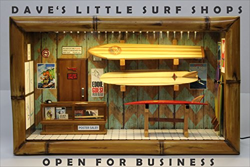 (Dave's Little Surf Shop Scale Model Diorama Surfboard Skateboard )