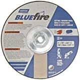 "Norton Blue Fire Plus Depressed Center Abrasive Wheel, Type 27, Zirconia Alumina, 5/8""-11"