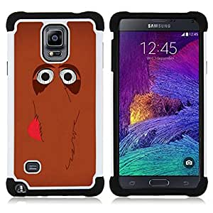 For Samsung Galaxy Note 4 SM-N910 N910 - cute mammoth elephant cartoon brown Dual Layer caso de Shell HUELGA Impacto pata de cabra con im????genes gr????ficas Steam - Funny Shop -