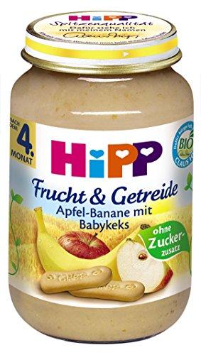 Hipp Apfel-Banane mit Babykeks, 6-er Pack (6 x 190 g) - Bio