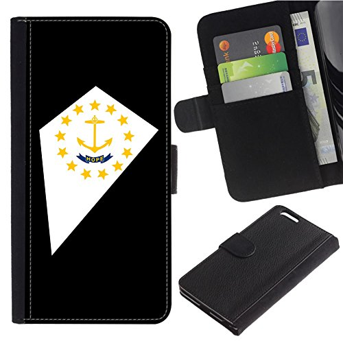 [Map and State Flag of RI Rhode Island] for Samsung Galaxy S8 Active, Flip Leather Wallet Holsters Pouch Skin Case