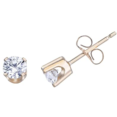 3fdd7adac Image Unavailable. Image not available for. Color: 14k Yellow Gold .50 Ct Diamond  Stud Earrings