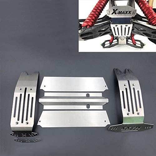 Traxxas X-Maxx XMAXX Stainless Steel Chassis Armor for 1/5 6S & 8S RC Car VXL-8s 77076-4 Truck Skid Plate Hollow Version 5pcs Set -