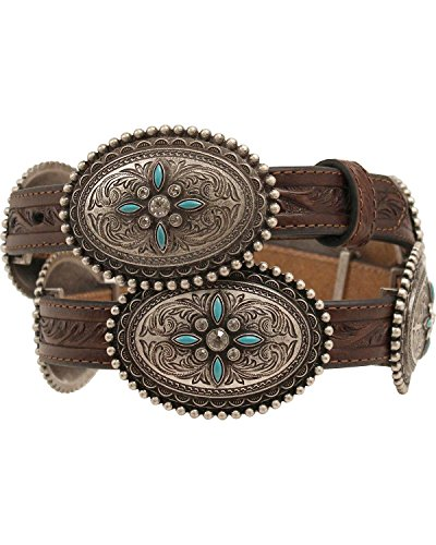 Ariat Women's Oval Concho Belt Brown Small