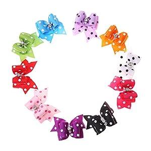 Jocestyle 10pcs Pet Hair Accessories Dog Cat Mini Butterfly Hairpin Hair Clip Headdress