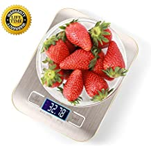 Food Scale Digital Kitchen Scale Digital Food Kitchen Scale Food Scales Digital Weight Cooking Scale Tare Function Multifunction Stainless Steel 4 Units