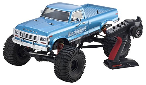 Kyosho Mad Crusher VE 4WD Brushless Powered RC Truck, Blue, 1: 8-Scale (Truck Mad)