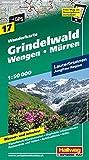 Wanderkarte Grindelwald - Wengen - Mürren 1 : 50 000: Lauterbrunnen. Jungfrau-Region