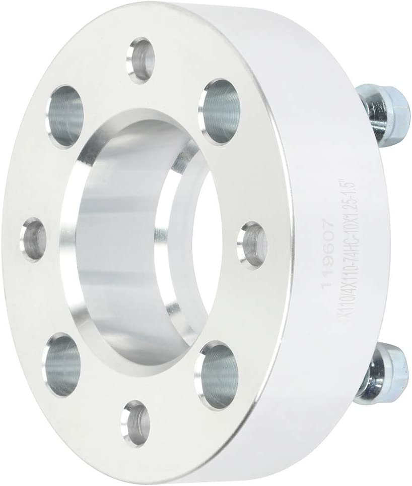 SCITOO 2X 4 lug HUB Centric Wheel Spacers Adapters 4x110 to 4x110 10x1.25 74mm 1.5 inch Compatible with for Yamaha Bruin 350 for Yamaha Grizzly 350 for Yamaha Grizzly 450