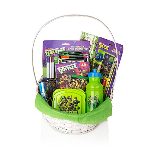 Marvel Teenage Mutant Ninja Turtles Gift Basket For Kids/ Toddlers, 20+ Pcs Bundle Filled Basket of Fun Gift Set, Perfect Baby Gift Ideas for Birthdays, Easter, Christmas, Get Well, or Other Occasion!