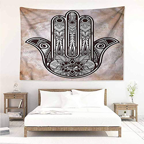 Sunnyhome Tapestry for Living Room,Hamsa Esoteric Good Luck Charm,Tapestry for Home Decor,W63x47L