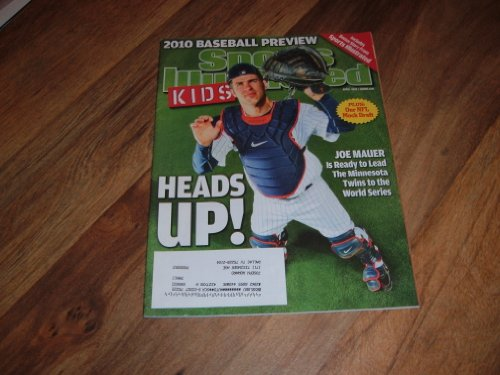 Joe Mauer, Minnesota Twins Ace Catcher, Sports Illustrated For Kids magazine, April 2010 issue.