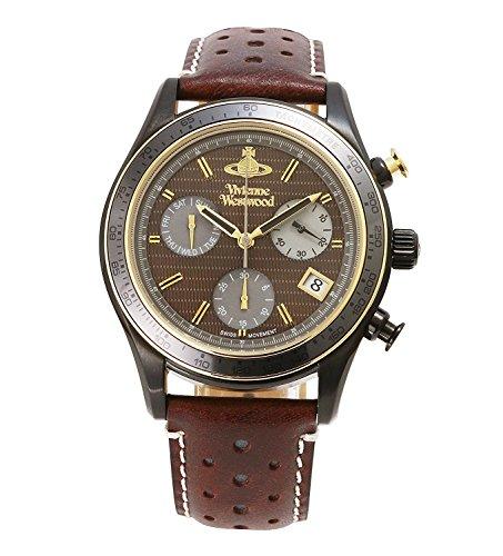 Vivienne Westwood watch SOTHEBY Brown Dial Chronograph Brown Leather Quartz VV142BRBR Men's parallel import goods]
