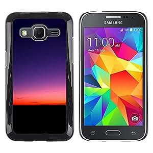 El nacimiento del sol - Metal de aluminio y de plástico duro Caja del teléfono - Negro - Samsung Galaxy Core Prime