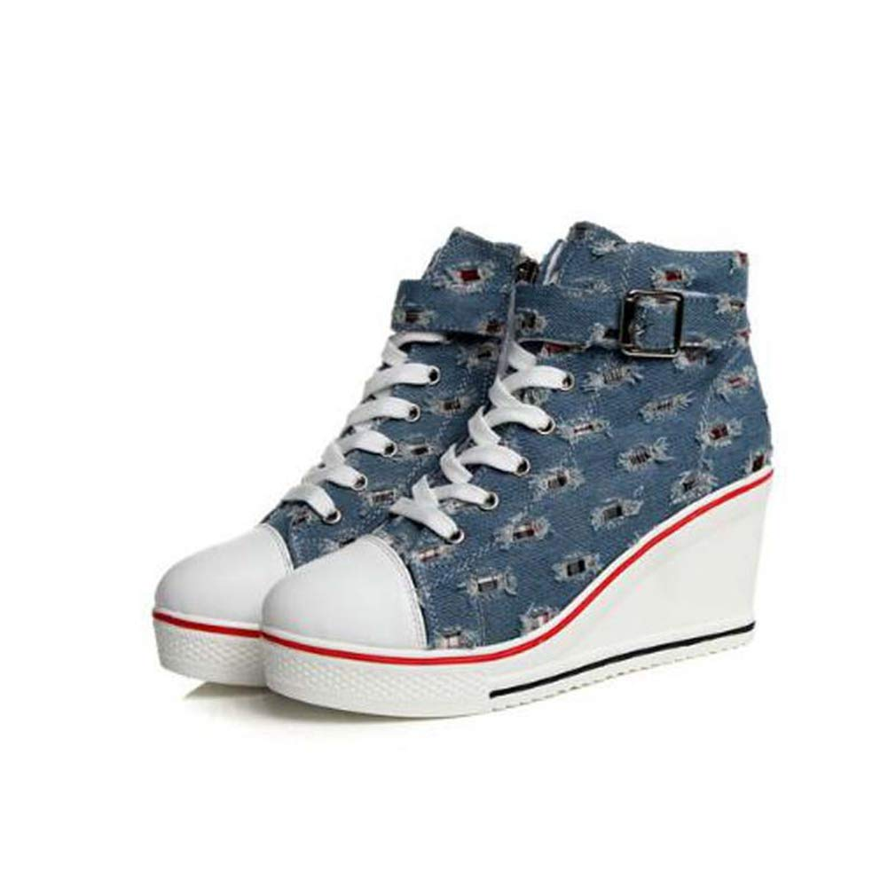 | Women Wedges Casual Shoes Breathable Platform
