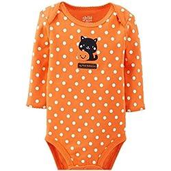 Orange L//S Shirt Orange White Dots Petal Skirt Nb-8y Petitebella My First Boo