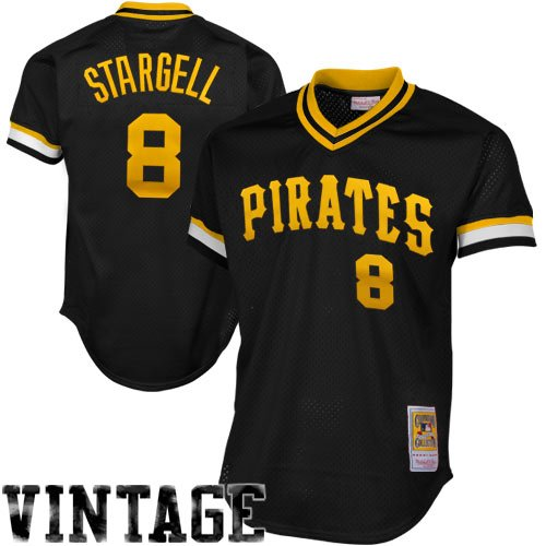 Mitchell & Ness Willie Stargell Black Pittsburgh Pirates Authentic Mesh Batting Practice Jersey Large (44)