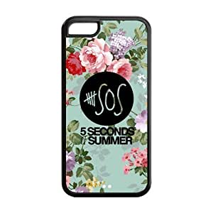 LJF phone case LeonardCustom Protective Hard Rubber Coated Cover Case for iphone 4/4s , 5 Seconds of Summer -LCI5CU62