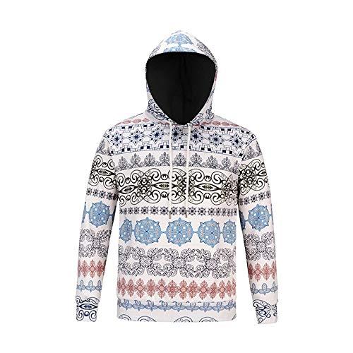 Xl fby Con Stampa A Natalizia Pullover A871 Uomo Maniche Autunno Per Tcly Inverno Modello E Lunghe P7qdOqU