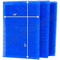 Dynamic Air Cleaner Replacement Filter Pads 19 1/2 x 24 1/2 Refills (3 Pack)