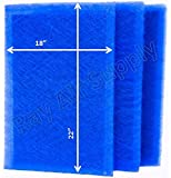 RayAir Supply 19 1/2 x 24 1/2 Dynamic Air Cleaner Replacement Filter Pads 19 1/2 x 24 1/2 Refills (3 Pack)