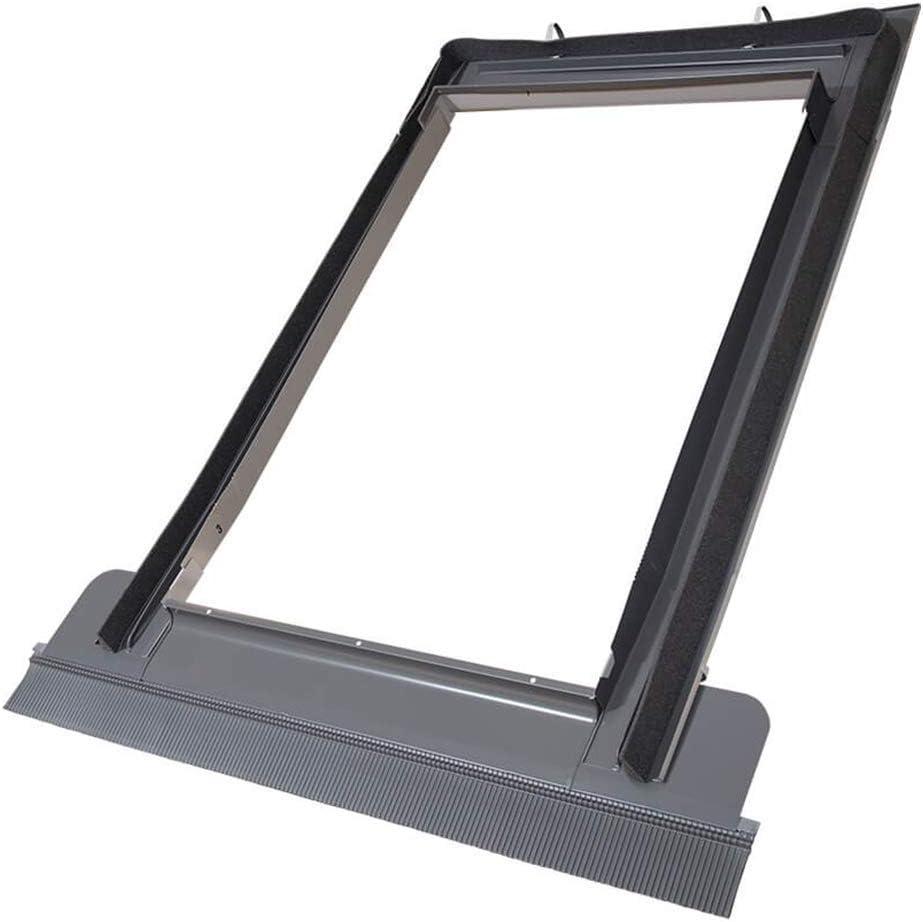 VKR Konzern Rooflite Velux Dauerl/üftung hochwertiges Kunststoff PVC Dachfenster Schwingfenster mit Eindeckrahmen 94x118 cm P6 P06 PK06 inkl Abverkauf Aktion