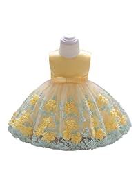 LZH Baby Girl Dress Formal Christening Baptism Gowns Pageant Dress for Toddler