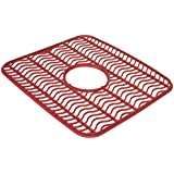 Rubbermaid Antimicrobial Sink Protector Mat, Red Waves, Small