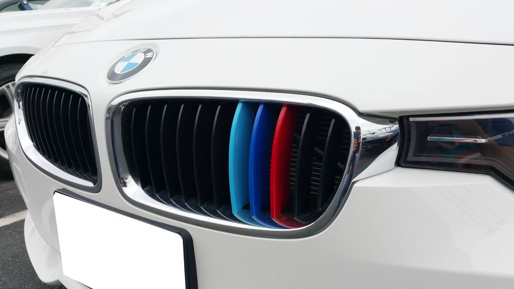 Amazoncom IJDMTOY MColored Grille Insert Trims For BMW F - Bmw grille stripe decals