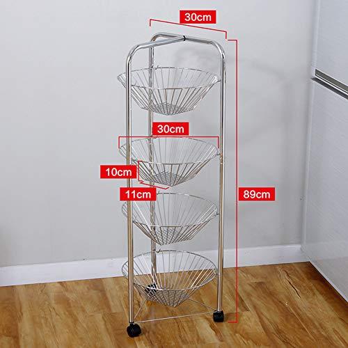 Shelf Storage Racks Storage Basket Shelf Baskets Cupboard Organizers Storage Rack Reinforce Iron Art Moveable Kitchen Sundries Finishing Rack ZHAOYONGLI by ZHAOYONGLI-shounajia (Image #2)