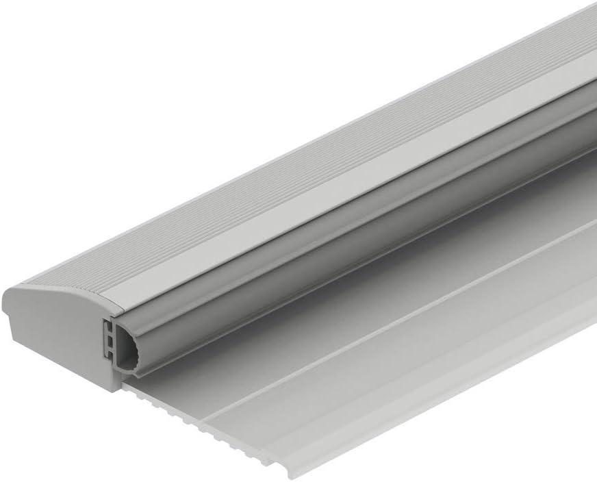GedoTec - Umbral de puerta de aluminio con tope de puerta de piso con sello | Longitud 840 mm | en aluminio anodizado plata | metal antracita | herrajes Herrajes arquitectónicos | 1 pieza